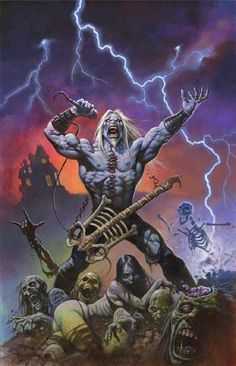 Art by Alex Horley Dark Fantasy Art, Dark Art, Arte Pink Floyd, Fanart Bts, Heavy Metal Art, Rock Poster, Horror Artwork, Goth Art, Horror Comics