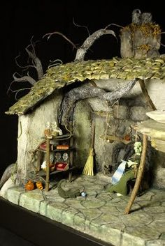 miniature witch house dollhouse Exterior. Magical. inspiration. scenary