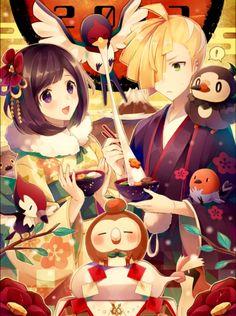 Q legal! Agora Pokémon. Alolan!!! Esses são alguns dos personagens do Pokémon Sun e moon