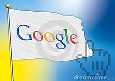 Google flag, vector file and illustration, editorial use