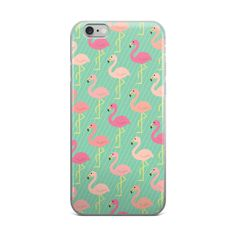 MARCHING FLAMINGOS - MUTED TURQUOISE - iPhone case 6/6s 6 Plus/6s Plus – FRENCH FRIES AND APATHY
