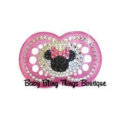Minnie Mouse Bling Pacifier – Baby Bling Things Boutique Online Store
