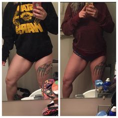 My legs are the first place I lean out. This is about 3.5 months of difference. I can tell my inner thighs are getting much smaller and I'm definitely getting more muscle  I wish there was a quad flexing emoji  @fat_to_fit_darling this is for you bae  #quadsquad #weightloss #weightlossjourney #fit #fitnessjourney #fitness #fitnessgoal