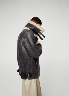 Sheepskin aviator jacket | MANGO