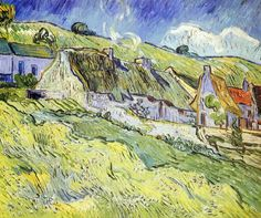 A Group of Cottages, 1890, van Gogh.