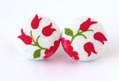 cute fabric earrings