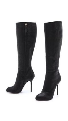 Embossed Suede Heeled Boots http://rstyle.me/n/b6cafpdpe