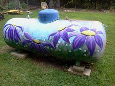 Painted propane tank #2. Birthday gift..