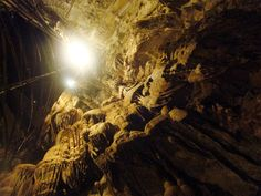 Located in Vallecito, CA, Moaning Cavern received its mysterious name from what some believe to be a moaning sound from the cave that lured gold miners to the entrance in the 1850s. Today, visitors can take a walking tour or rappel down a 165-foot-tall vertical shaft located in the cavern's main chamber. Moaning Cavern is home to some of the oldest humans remains discovered in America; it is the final resting place for the bodies of prehistoric people who fell into its opening.