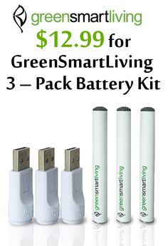 At GreenSmartLiving.com, you can get $12.99 Green Smart Living 3-Pack battery Kit. Snap up now and avail this offer. For more GreenSmartLiving Coupon Codes visit:  http://www.couponcutcode.com/stores/greensmartliving/