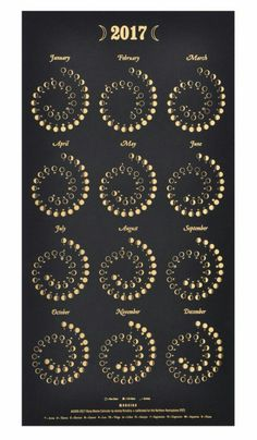 "kyrahgrey: "" deadly–addiction: ""2017 moon chart!  "" @grayladyofthewell @seatattheblackgates I love this moon chart! Spiraling in and out of Darkness, so fitting. """