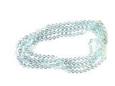 Halskette Modische Halskette 180cm geschlossen ohnet Verschlusshaken hellblau, klar Kunststoffperlen keine Handarbeit,Original-Modeschmuck 60-ziger Art.-Nr.: RHK1002