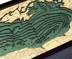 Lake Ontario Chart - Lake Ontario WoodChart - Lake Ontario Wall Map
