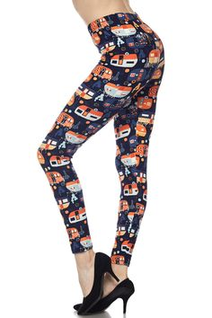 bfe0f28cca669 For the RV enthusiast in your life, our Buttery soft Colorful Camper  Leggings are a
