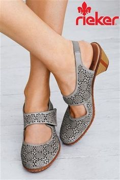 Gorgeous Rieker Laser cut shoes