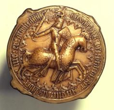 The Great Seal of King Edward III showing him in knightly mode. What a splendid image of this complex man who rode into battle, built palaces, enjoyed the intricacies of clocks, the sheer fun of dressing up, and loved his family well. Not to mention the introduction of the use of English as the language of the courts ...