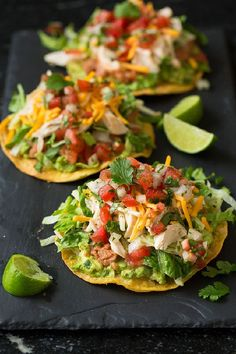 It's been a while since I've made tostadas and now that I've made them again I'm wondering why they aren't on regular rotation around here. These Chicken, Guacamole and Bean Tostadas are perfect ...