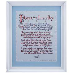 Prayer for Little Boy Framed Print