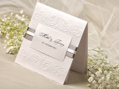 Embossed Wedding Invitation Shimmery Paper by DecorisWedding, $2.63