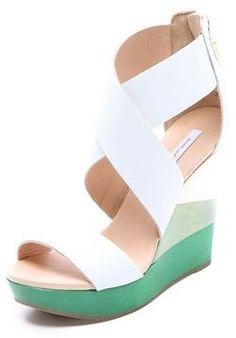 shopstyle.com: Diane von furstenberg Ombre Wedge Sandals