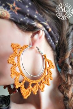 Easy & Fabulous crochet earring tutorial - jazz up your old hoops!