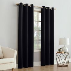 US Seller Luxury Blackout Energy-Efficient Curtain Panel Window Drapes Sheer! Grommet Curtains, Blackout Curtains, Drapes Curtains, Sheer Drapes, Window Drapes, Black Curtains Bedroom, Living Room Decor, Bedroom Decor, Bedroom Ideas