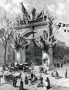 Temporary Arch at Washington Square, 1889 #history