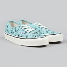 Vans x Snoopy OG Authentic LX Snoopy And The Gang  - Blue Turquo