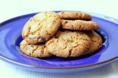 Peanutת chocolate and coconut vegan cookies