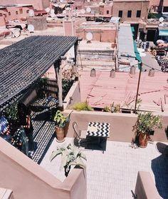 The Riad Yasmine Marrakech - Barts Boekje Nomad Restaurant, Moroccan Restaurant, Fresh Mint Tea, Outdoor Furniture, Outdoor Decor, Marrakech, Sun Lounger, Atlas Mountains, Pictures