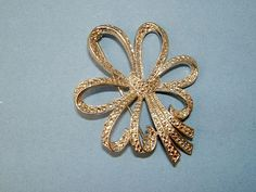 1950s Vintage Silver Metal and Marcasite Bow by QueensParkVintage, $40.00