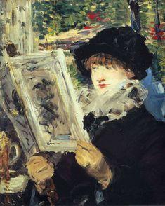 Woman Reading, Edouard Manet Size: 61.2x50.7 cm Medium: oil on canvas