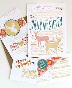 letterpress invitation sets by DapperPaper on etsy