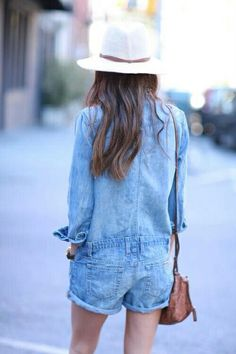 overoll denim mini