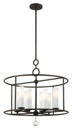 Buy the Crystorama Lighting Group English Bronze Direct. Shop for the Crystorama Lighting Group English Bronze Cameron 8 Light Wide Cage Chandelier with Clear Glass Drops and save. Industrial Chandelier, Bronze Chandelier, Candle Chandelier, Chandelier Lighting, Linear Chandelier, Vanity Lighting, Wheel Chandelier, Wrought Iron Chandeliers, Bedroom Chandeliers
