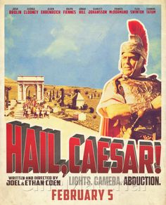 A new Film on Old Hollywood? I had to watch it and I Love it! Great cast, extremely funny ideas, but there could have been Even more references to the Studio System, the Stars, and Films of classic Hollywood. Still, watch Hail, Caesar! Nice movie poster