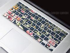 Flower Dance keyboard-Decal MacBook Macbook Keyboard Decal/Macbook Pro Keyboard Skin/Macbook Air Sticker/Macbook vinyl sticker