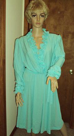 Lady Carol Dress Ruffle Midi Secretary Belted Deep V Mod Party Dress Vintage 1970s SZ 18 Union Made USA. $39.00, via Etsy.