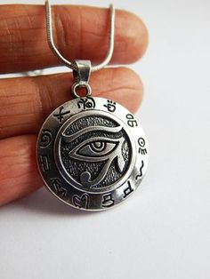 Silver Egyptian Necklaces Eye of Horus Jewelry Pendant Egyptian Symbol Necklace Egyptian Jewelry African Necklace Eye Jewelry Wadjat Udjat by TheBlackerTheBerry