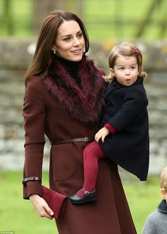 - Prince George walked along holding his father's hand while Princess Charlotte was carried in her mother's arms as they made their way into St Mark's Church in Englefield, Berkshire.