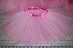 How to make a tutu with a satin-covered elastic waistband