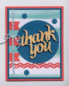 Glittered Greetings Thank You card