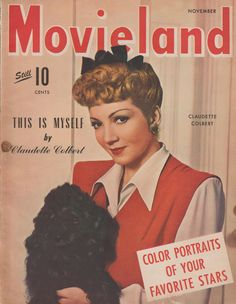 Claudette Colbert on the November 1943 Movieland