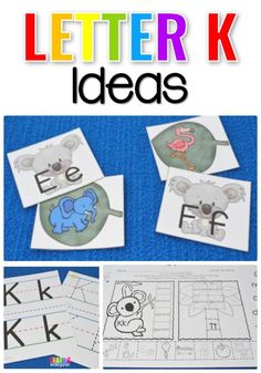 Ideas for teaching the Letter K Letter Cards https://www.amazon.com/Kingseye-Painting-Education-Cognitive-Colouring/dp/B075C661CM