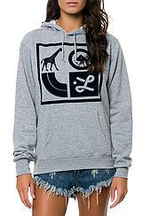LRG The Box Icons Hoodie in Heather Grey