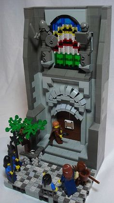 Week 7: Martin Luther nailing the 95 theses to the door of the Wittenberg Church. Oh yeah, it's the lego version.