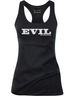 "Women's ""Evil"" Tank by Black Roses Apparel (Black) #inkedshop #evil #tanktop #wordtee #fashion"