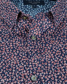 Small floral print shirt - Red | Shirts | Ted Baker