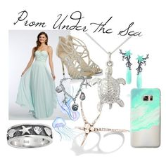 """""""Under the sea"""" by lovestheturtles ❤ liked on Polyvore featuring Jimmy Choo, Bling Jewelry, Argent of London, Tiffany & Co., Lydia Courteille, Cristina Ortiz and Casetify"""