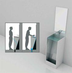 lavabo inclus con lavaggio delle mani che pulisce la parte sottostante...